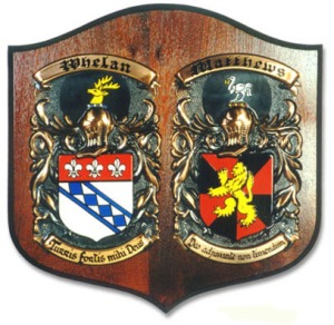 family crest plaque